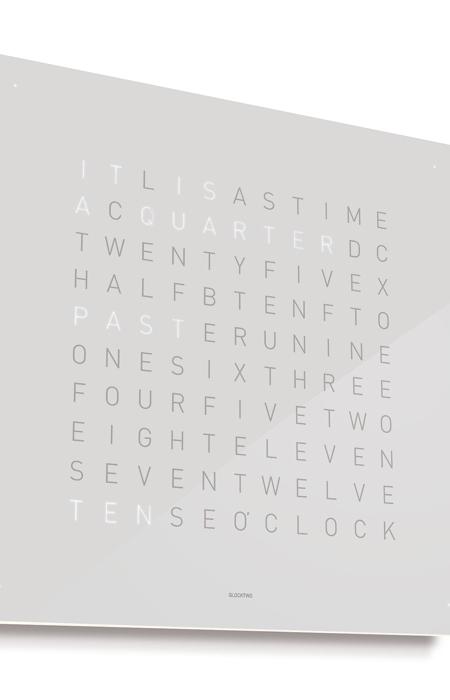 QlockTwo Classic – French White
