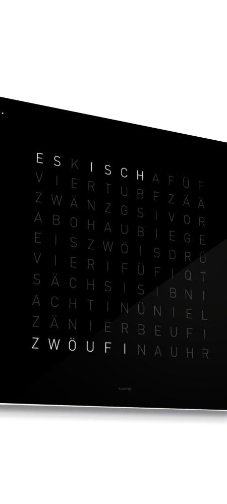 QlockTwo Classic – English, Black